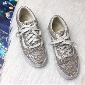 Vans old school chunky glitter shoes
